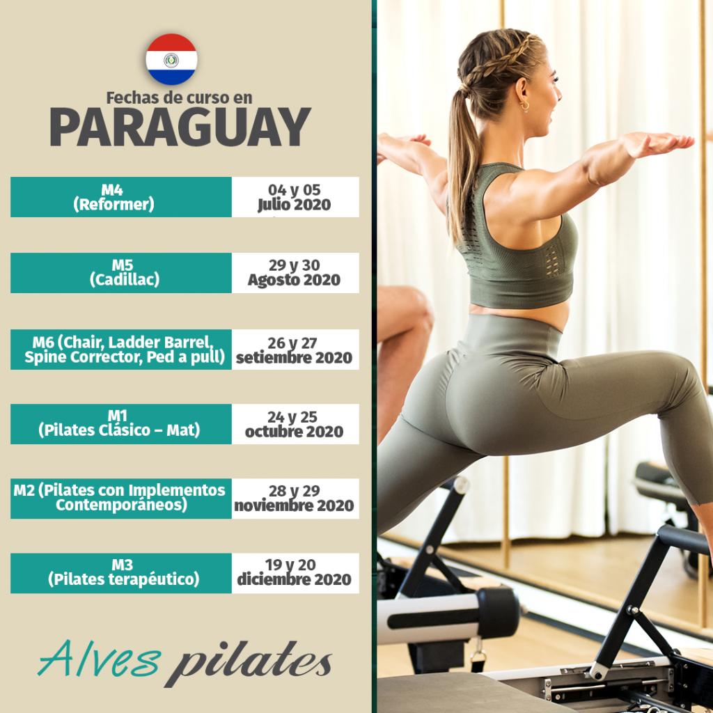 Fechas de cursos de pilates 2020 en Paraguay